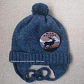 Работы для детей, ручной работы. Ярмарка Мастеров - ручная работа Зимняя вязаная шерстяная шапка для мальчика. Handmade.