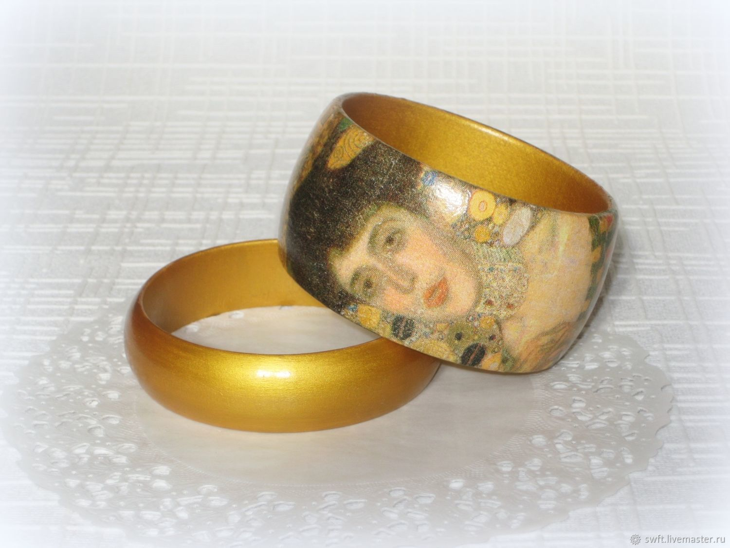 bracelets wooden from woman decoupage girl the wood of adele item cheap a style klimt to romantic what give bracelet gold tree women gift vintage beautiful golden