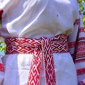"""Русский стиль ручной работы. Ярмарка Мастеров - ручная работа """"Мудрость и Покровительство"""" Тканый пояс. Handmade."""