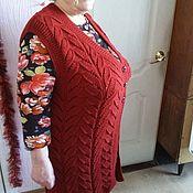 Одежда ручной работы. Ярмарка Мастеров - ручная работа Женская вязанная жилетка, ручная работа (образец). Handmade.