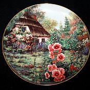 "Винтаж handmade. Livemaster - original item Красивая серия тарелок ""Коттеджи"",  Violet Schwening, Franklin Mint. Англия. Handmade."