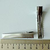 Материалы для творчества handmade. Livemaster - original item the basis for the crocodile clips 55 mm. Handmade.
