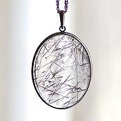 Украшения handmade. Livemaster - original item Pendant with tourmaline quartz