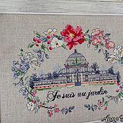 Картина ручная вышивка крестом