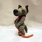 Куклы и игрушки ручной работы. Ярмарка Мастеров - ручная работа тедди волк  19 см .. Handmade.