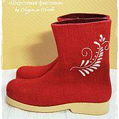 """Обувь ручной работы. Ярмарка Мастеров - ручная работа Мужские полуваленки """"Зима-красна"""". Handmade."""