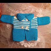 Куклы и игрушки ручной работы. Ярмарка Мастеров - ручная работа Жакет с кокеткой в полосочку. Handmade.