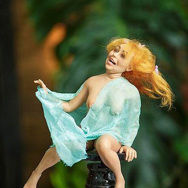 Куклы и игрушки ручной работы. Ярмарка Мастеров - ручная работа Хильда на стульчике. Handmade.