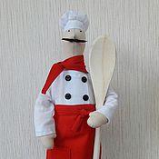 Куклы и игрушки ручной работы. Ярмарка Мастеров - ручная работа тильда Повар кукла. Handmade.