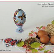 Подарки к праздникам ручной работы. Ярмарка Мастеров - ручная работа Пасхальное яйцо Махаон 2. Handmade.