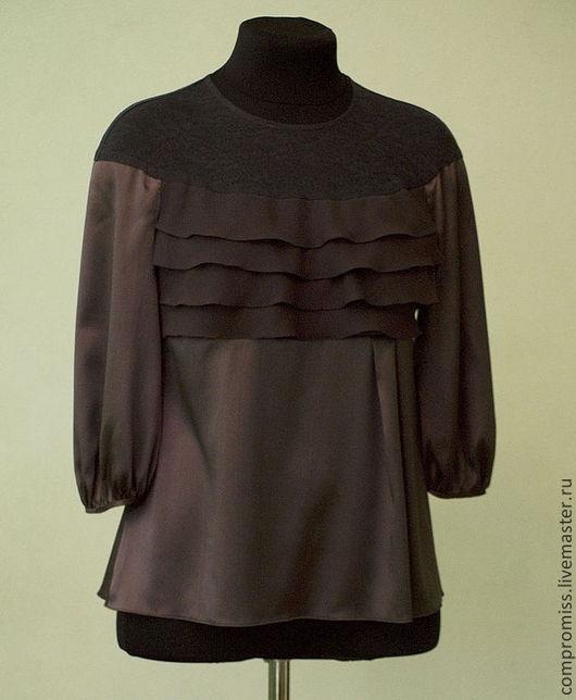 Блузки ручной работы. Ярмарка Мастеров - ручная работа. Купить блузка. Handmade. Коричневый, одежда для женщин, индивидуальный