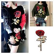 Applications handmade. Livemaster - original item Dolce&Gabbana rose applique, set of 2 pieces.. Handmade.