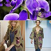 """Пальто ручной работы. Ярмарка Мастеров - ручная работа Жакет """"С орхидеями"""". Handmade."""
