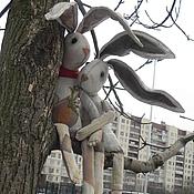 """Куклы и игрушки ручной работы. Ярмарка Мастеров - ручная работа Заяц чердачный """"Морковка"""". Handmade."""