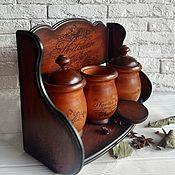 """Наборы ручной работы. Ярмарка Мастеров - ручная работа Набор для специй """"Herbs and spices"""" навесной или настольный. Handmade."""