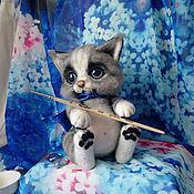 Куклы и игрушки ручной работы. Ярмарка Мастеров - ручная работа Котенок Бусик. Handmade.