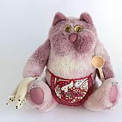 Куклы и игрушки ручной работы. Ярмарка Мастеров - ручная работа Игрушка из натурального меха. Кот с мышками. Handmade.