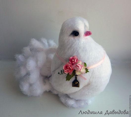 Людмила Давыдова, голубь, голубка, белая птица, белый голубь, вязаный голубь, вязаные птицы, игрушка ручной работы, мягкая игрушка в подарок, игрушка птица, игрушка голубь, вязаная игрушка