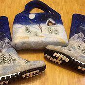 """Обувь ручной работы. Ярмарка Мастеров - ручная работа Комплект """"Зимний пейзаж"""". Handmade."""