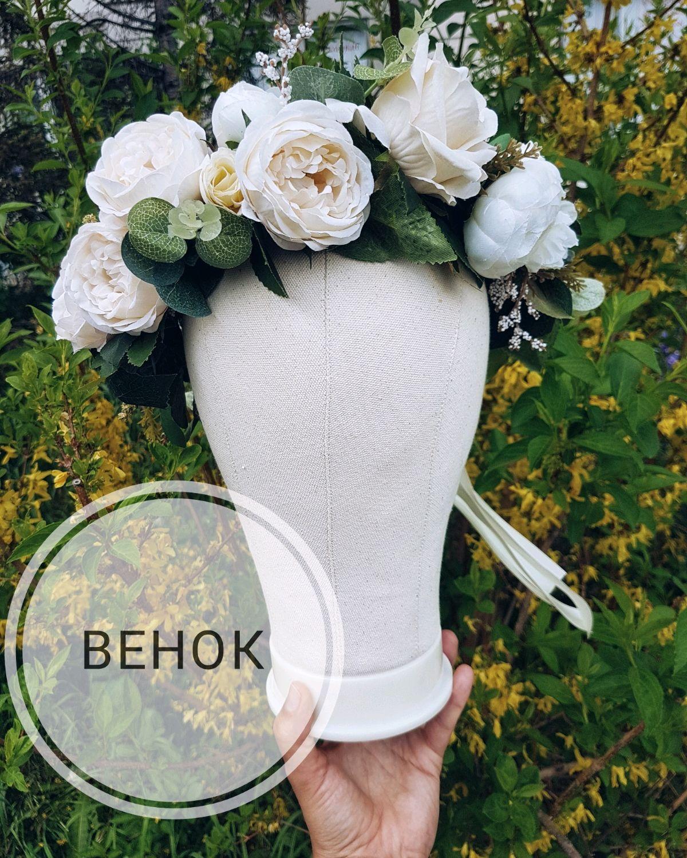 Крупный венок для невесты, Цветы, Москва, Фото №1