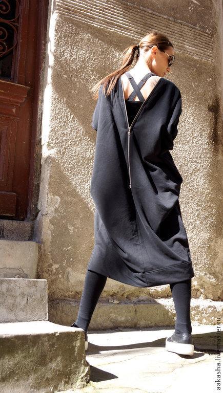 платье туника черное платье