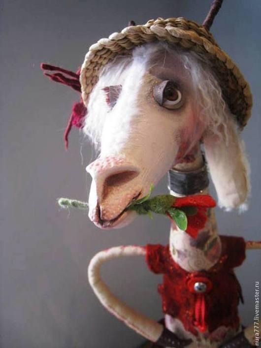 Игрушки животные, ручной работы. Ярмарка Мастеров - ручная работа. Купить игрушка интерьерная коза ДЕКАБРИНА. Handmade. овца, текстиль