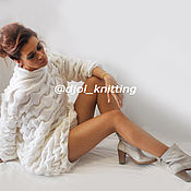 Одежда handmade. Livemaster - original item Knit dress-White clouds. Handmade.