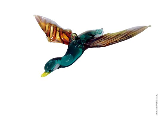 Interior Items handmade. Livemaster - handmade. Buy Interior hanging decoration of colored glass bird Duck Fede.Duck