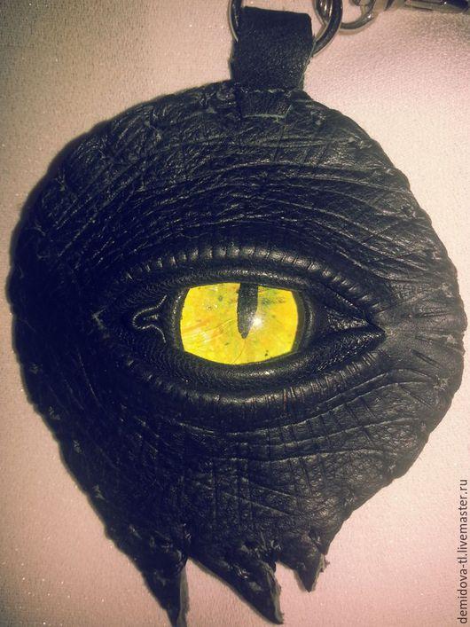 """Брелоки ручной работы. Ярмарка Мастеров - ручная работа. Купить брелок """"глаз дракона"""". Handmade. Черный, брелоки, брелок на авто"""