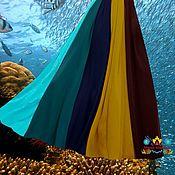 """Одежда ручной работы. Ярмарка Мастеров - ручная работа юбка шифон в пол """"Мексика"""" 10-клинка из шифона. Handmade."""