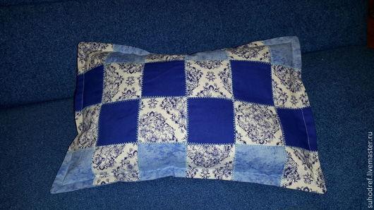 Текстиль, ковры ручной работы. Ярмарка Мастеров - ручная работа. Купить Подушечка для шеи.. Handmade. Разноцветный, массаж, голубой, диван