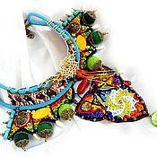 """Украшения ручной работы. Ярмарка Мастеров - ручная работа Яркое колье """"Солнцеворот""""  в африканском стиле. Handmade."""