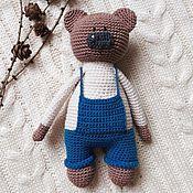 Куклы и игрушки ручной работы. Ярмарка Мастеров - ручная работа Мишка в штанишках. Handmade.