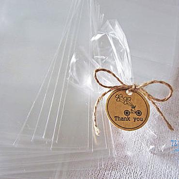 Материалы для творчества ручной работы. Ярмарка Мастеров - ручная работа Пакет прозрачный 10х20, 100 шт, без клапана, под завязку, для пряников. Handmade.