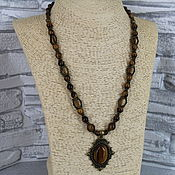 Украшения handmade. Livemaster - original item Necklace with a pendant made of stones