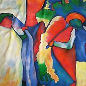 """Аксессуары ручной работы. Ярмарка Мастеров - ручная работа Платок шейный """" С любовью к Кандинскому"""". Handmade."""