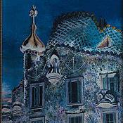 Картины и панно handmade. Livemaster - original item Barcelona. Gaudi. The House Batlló. Oil painting. Handmade.