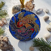Сувениры и подарки handmade. Livemaster - original item Christmas toy medallion