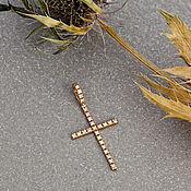 Украшения handmade. Livemaster - original item Elegant women`s cross in rose gold with natural diamonds. Handmade.