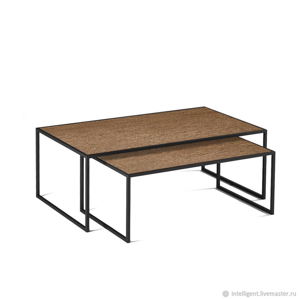 Мебель ручной работы. Ярмарка Мастеров - ручная работа. Купить Комплект журнальных столов Set 1 black темный дуб. Handmade.