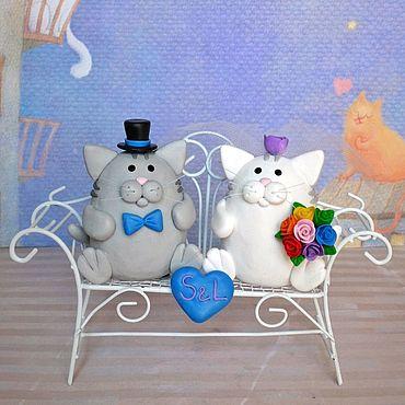 Свадебный салон ручной работы. Ярмарка Мастеров - ручная работа Копия работы: Свадебные фигурки Коты на торт. Handmade.