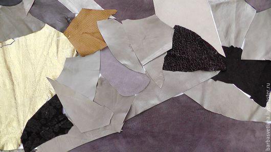 Другие виды рукоделия ручной работы. Ярмарка Мастеров - ручная работа. Купить Комплект для творчества №14 Куски натуральной кожи Мех норки. Handmade.