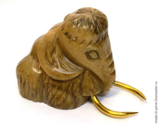 Приколы ручной работы. Ярмарка Мастеров - ручная работа. Купить Мамонтенок - фигурка из камня Кальцит. Handmade. Фигурка, подарок