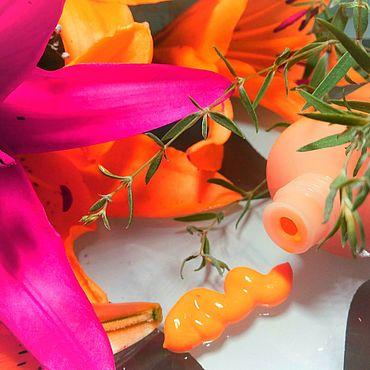 """Косметика ручной работы. Ярмарка Мастеров - ручная работа """"МОРКОВНЫЙ"""" - ночной, омолаживающий крем для лица. Handmade."""