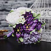 """Свадебный салон ручной работы. Ярмарка Мастеров - ручная работа Букет невесты """"Лиловые тюльпаны"""". Handmade."""