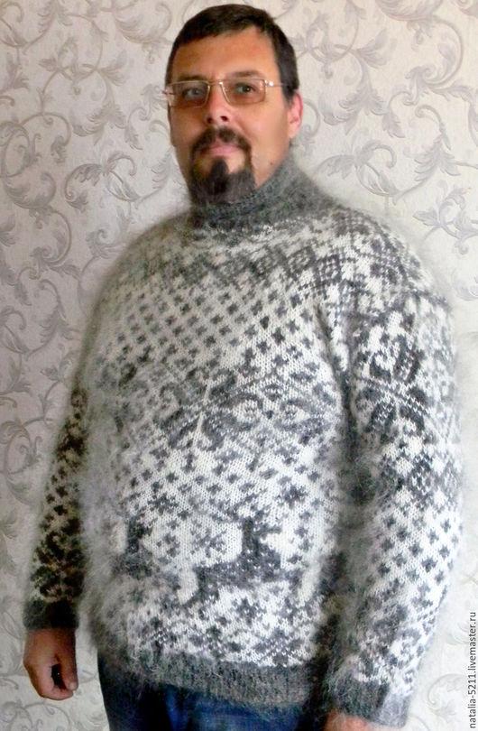 Кофты и свитера ручной работы. Ярмарка Мастеров - ручная работа. Купить Свитер из козьего пуха. Handmade. Свитер вязанный из пуха