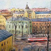 Картины и панно handmade. Livemaster - original item Spring and the Tram on the Petrograd side Print copyright. Handmade.