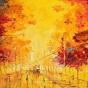 Картины ручной работы. Ярмарка Мастеров - ручная работа Яркая Осень. Handmade.