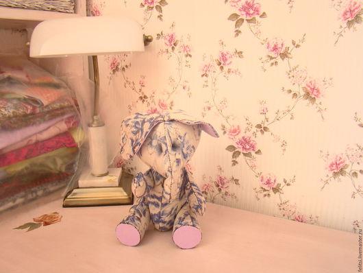 Игрушки животные, ручной работы. Ярмарка Мастеров - ручная работа. Купить Винтажный слоник. Handmade. Серый, игрушка ручной работы