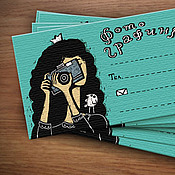 Канцелярские товары handmade. Livemaster - original item Set of business cards